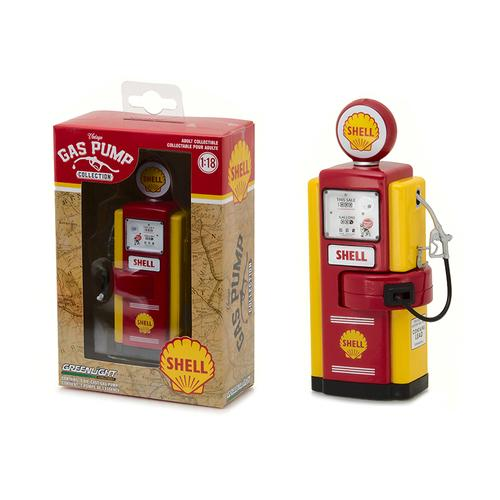 1948 Wayne 100-A Shell Oil Gas Pump Replica Vintage Gas Pump Series 1 1/18 Diecast Model  by Greenlight