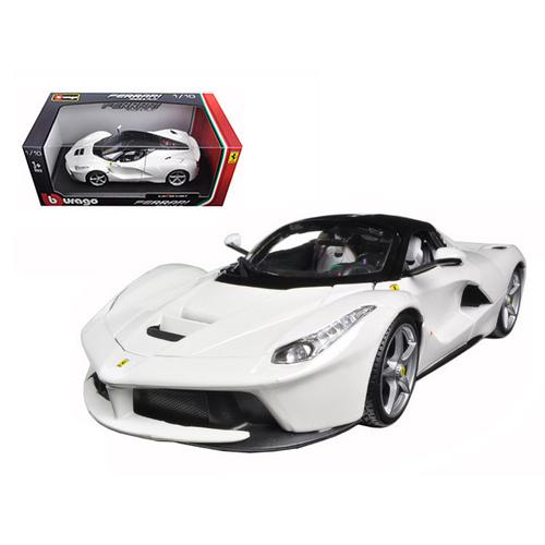 Ferrari LaFerrari F70 White 1/18 Diecast Model Car by Bburago