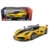 Ferrari FXX-K #15 Yellow 1/18 Diecast Model Car by Bburago