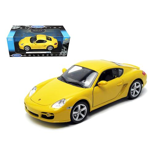 Porsche Cayman S Yellow 1/18 Diecast Car Model by Welly