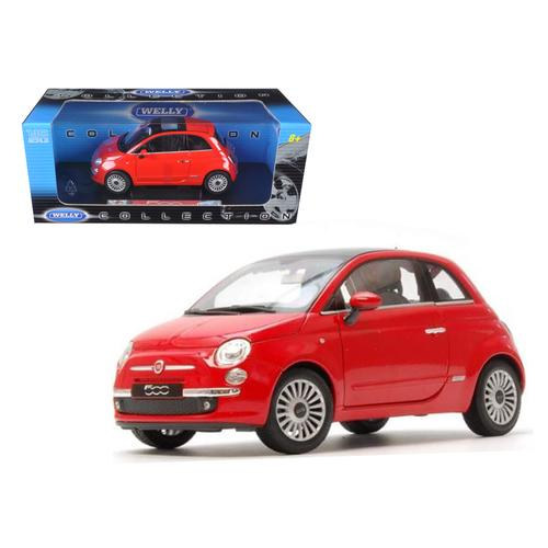 2007 Fiat 500 Red 1 18 Diecast Car Model By Welly