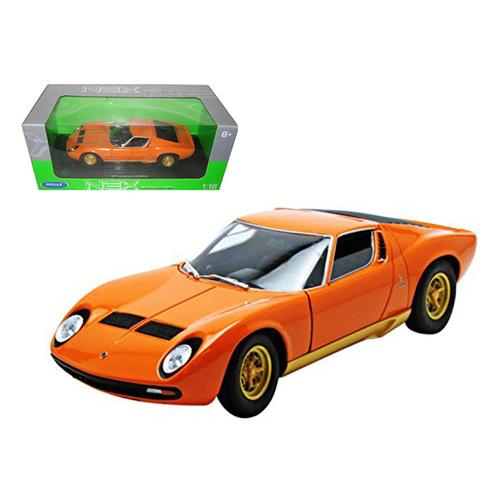 1971 Lamborghini Miura P400 Orange 1/18 Diecast Model Car by Welly