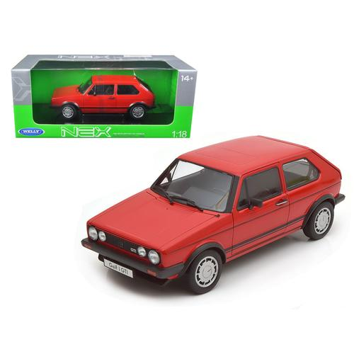 1983 Volkswagen Golf 1 GTI Red 1/18 Diecast Model Car by Welly