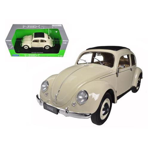 1950 Volkswagen Classic Old Beetle Split Window Cream 1/18 Diecast Model Car by Welly