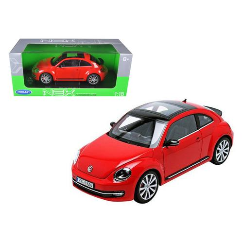 2012 Volkswagen New Beetle Red 1/18 Diecast Car Model by Welly