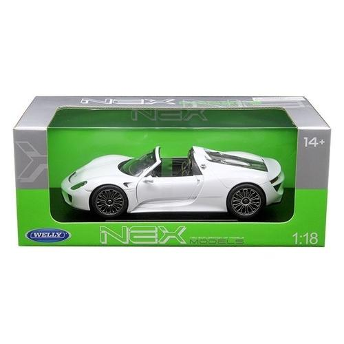 Porsche 918 Spyder No Top White 1/18 Diecast Model Car by Welly