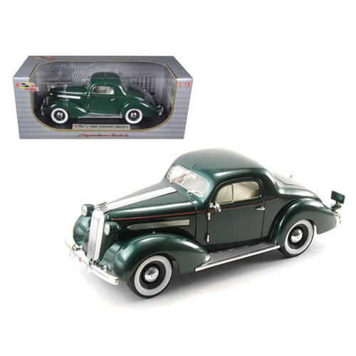 1936 Pontiac Deluxe Green 1/18 Diecast Model Car by Signature Models