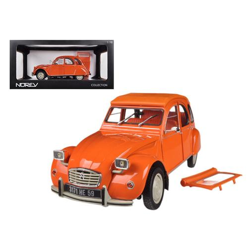 1976 Citroen 2CV 6 Orange 1/18 Diecast Car Model by Norev