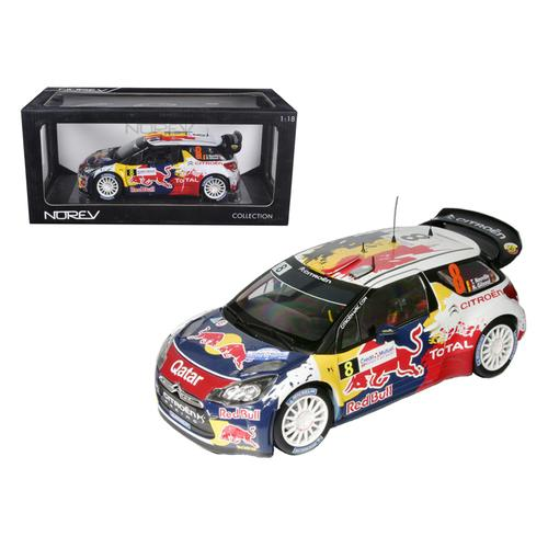 "Citroen DS3 #8 WRC Rally France 2012 Neuville / Gilsoul ""Red Bull"" 1/18 Diecast Car Model by Norev"