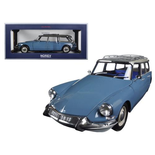 1967 Citroen ID 19 Break Monte Carlo Blue 1/18 Diecast Model Car by Norev
