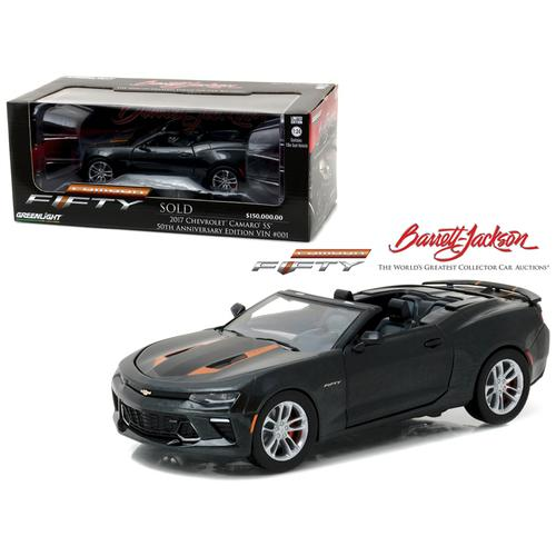 2017 Chevrolet Camaro Convertible Barrett Jackson Palm Beach 2016 50th Anniversary Vin #001 Sold for $150.000 1/24 Diecast Model Car by Greenlight