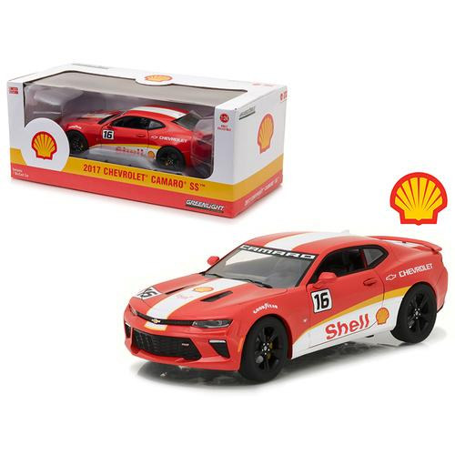 2017 Chevrolet Camaro SS Shell Oil Racing 1/24 Diecast Model Car by Greenlight