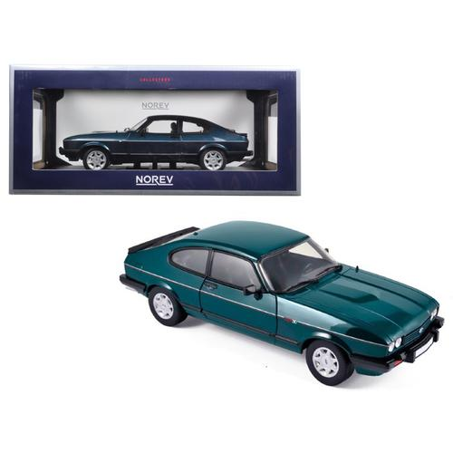 "1986 Ford Capri 280 ""Brooklands"" Green Metallic Limited Edition to 1038pcs 1/18 Diecast Model Car by Norev"
