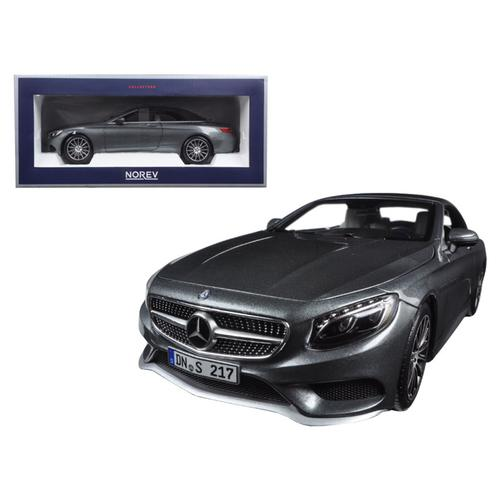 2015 Mercedes S Class Convertible Grey Metallic 1/18 Diecast Model Car by Norev
