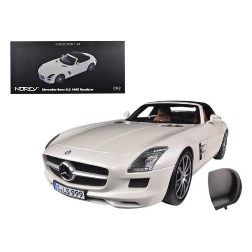 2011 Mercedes SLS AMG Roadster Pearl White 1/18 Diecast Car Model Norev 183491