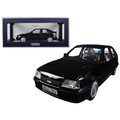 1987 Opel Kadett GSI Black 1/18 Diecast Model Car by Norev
