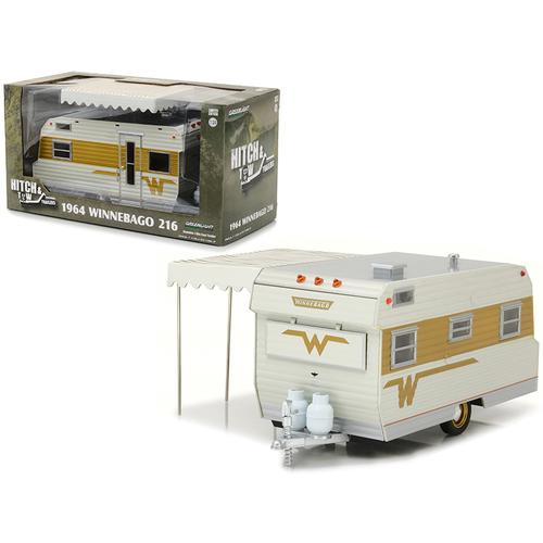 1964 Winnebago 216 Travel Trailer for 1/24 Scale Model Cars and Trucks 1/24 Diecast Model by Greenlight