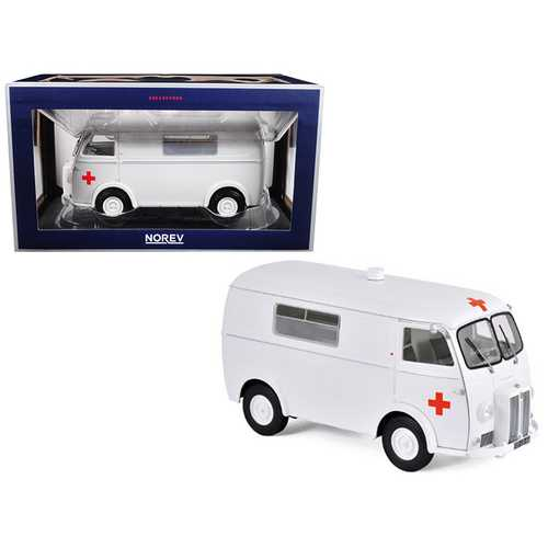 1963 Peugeot D4B Ambulance 1/18 Diecast Model Car by Norev