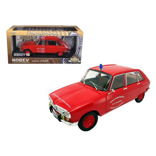 Renault 16 Diecast Model French Fire 1/18 Diecast Model Car by Norev