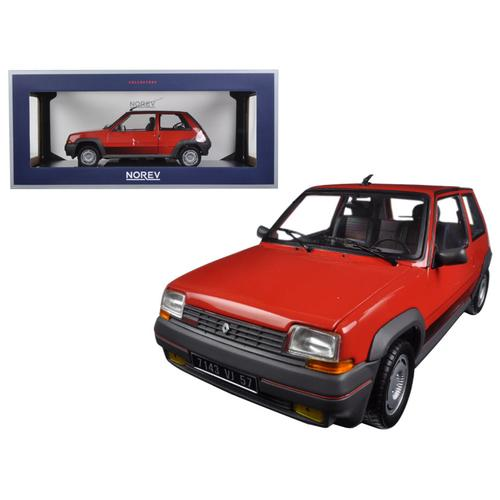 1986 Renault Supercinq GT Turbo Red 1/18 Diecast Model Car by Norev