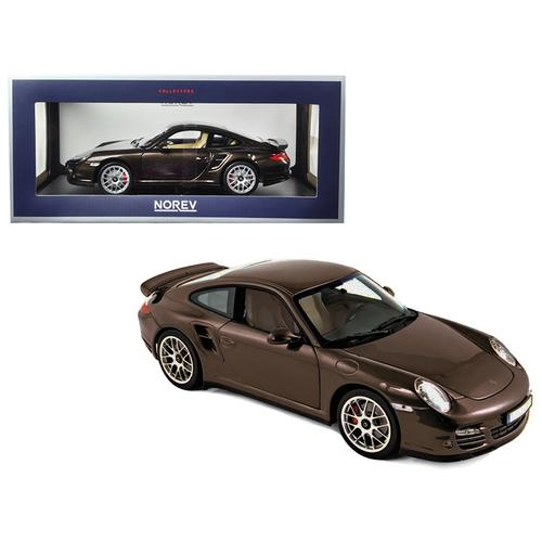 2010 Porsche 911 Turbo Brown Metallic 1/18 Diecast Model Car by Norev
