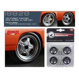 "Wheel and Tire Set of 4 from 1970 Plymouth Road Runner ""The Hammer"" Furious 7 Movie 1/18 by GMP"
