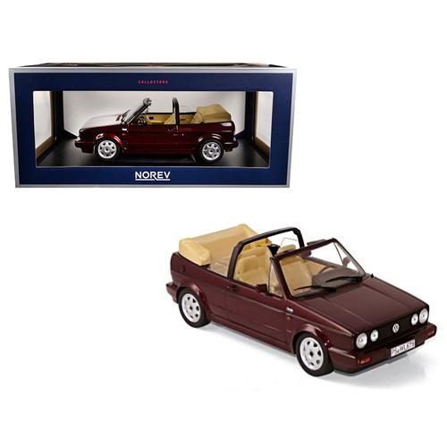 1992 Volkswagen Golf Cabriolet Classic Line Red Metallic 1/18 Diecast Model Car by Norev