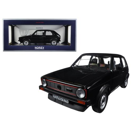 1976 Volkswagen Golf GTi Black 1/18 Diecast Model Car by Norev