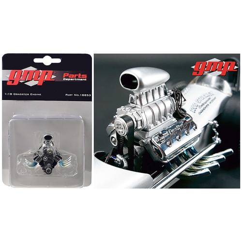 "Engine and Transmission Replica Blown Drag from ""The Chizler V"" Vintage Dragster 1/18 Model by GMP"