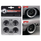 "1970 Plymouth Road Runner ""The Hummer"" 10 Spoke Street Fighter Wheels and Tires Set of 4 1/18 by GMP"