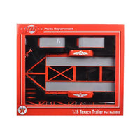 Tandem Car Trailer Texaco with Tire Rack 1/18 Diecast Model by GMP