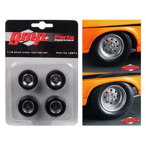 "1968 Chevrolet Nova ""1320 Drag King's"" Wheels and Tires Set of 4 1/18 by GMP"