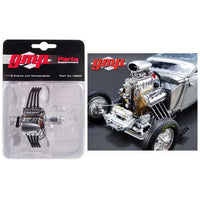 Drag Engine and Transmission Replica from 1934 Blown Altered Coupe 1/18 Model by GMP