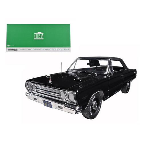 1967 Plymouth Belvedere GTX Convertible Black 1/18 Diecast Model Car by Greenlight