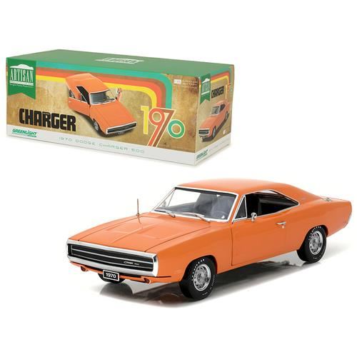1970 Dodge Charger HEMI Orange Artisan Collection 1/18 Diecast Model Car  by Greenlight