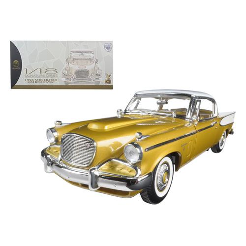 1958 Studebaker Golden Hawk Gold 1/18 Diecast Model Car by Road Signature