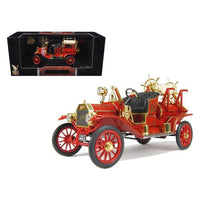 1914 Ford Model T Fire Engine Red 1/18 Diecast Model Car by Road Signature
