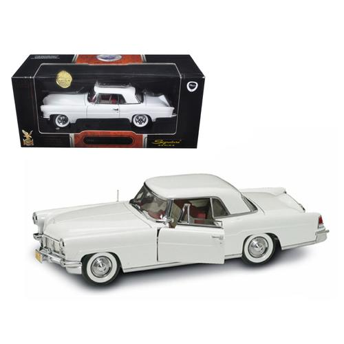 1956 Lincoln Continental Mark II White 1/18 Diecast Model Car by Road Signature
