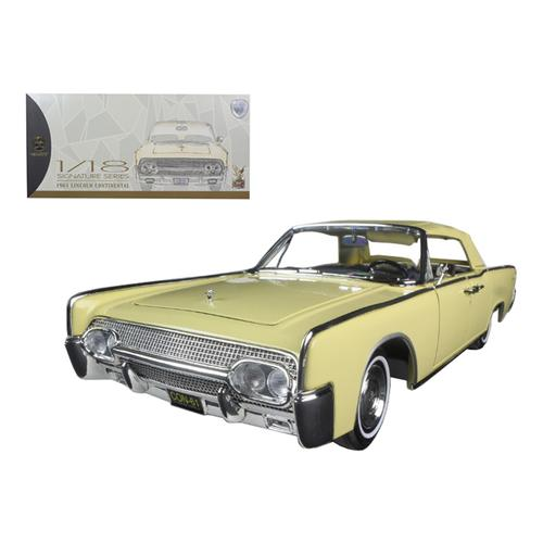 1961 Lincoln Continental Yellow 1/18 Diecast Model Car by Road Signature