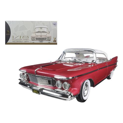 1961 Chrysler Imperial Crown Plum 1/18 Diecast Model Car by Road Signature