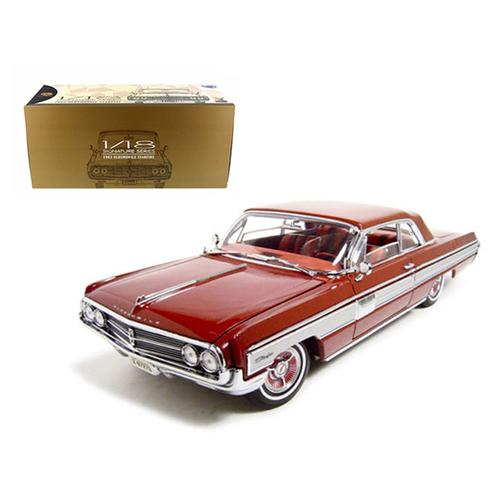 1962 Oldsmobile Starfire Garnet/Red 1/18 Diecast Car Model by Road Signature