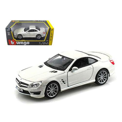 Mercedes SL 65 AMG Coupe White 1/24 Diecast Car Model by Bburago