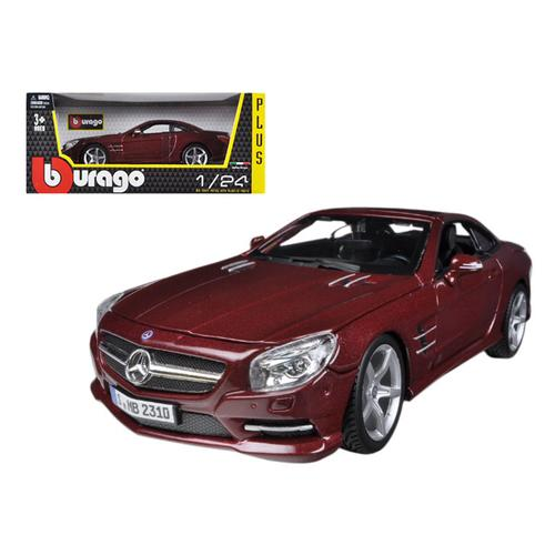 Mercedes SL 500 Coupe Red 1/24 Diecast Car Model by Bburago
