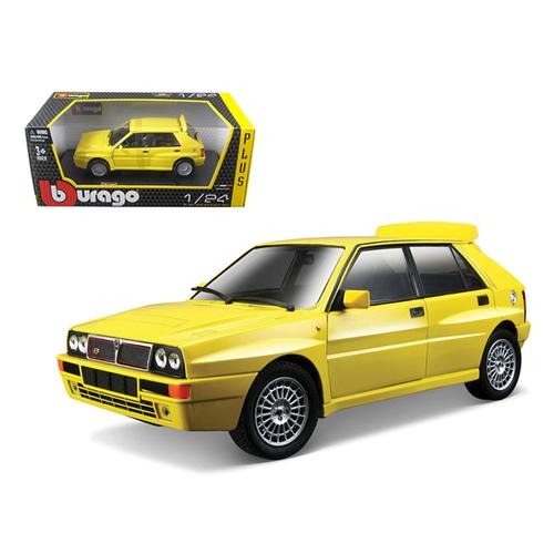 Lancia Delta HF Integrale Evo 2 Yellow 1/24 Diecast Car Model by Bburago