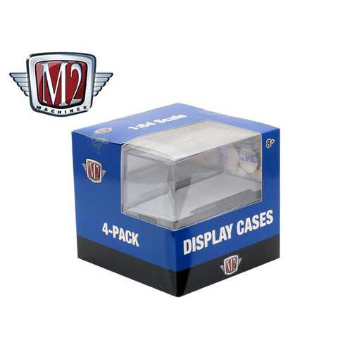 Set of 4 Acrylic Display Showcases for 1/64 Scale Model Cars by M2 Machines