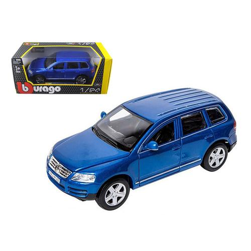 Volkswagen Touareg Blue 1/24 Diecast Model Car by Bburago