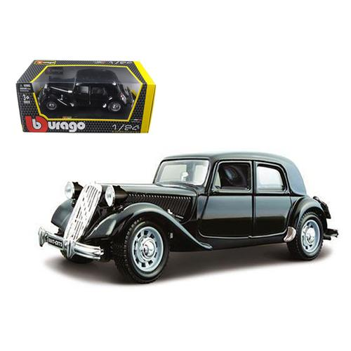 1938 Citroen 15 CV TA Black 1/24 Diecast Car Model by Bburago