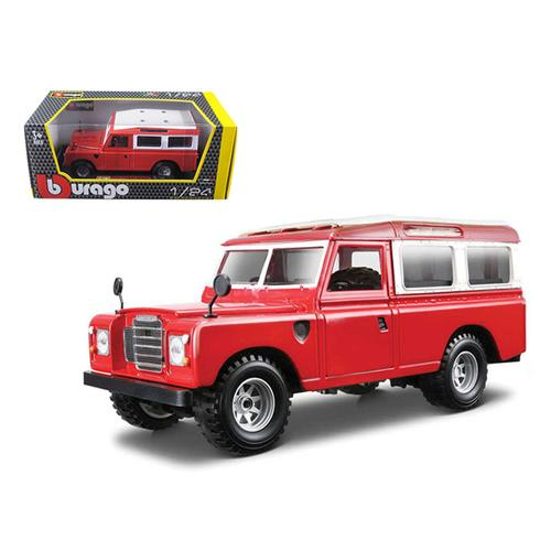 Old Land Rover Red 1/24 Diecast Car Model by Bburago