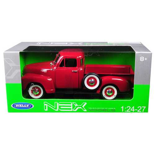 1953 Chevrolet 3100 Pick Up Truck Red 1/24 - 1/27 Diecast Model Car by Welly