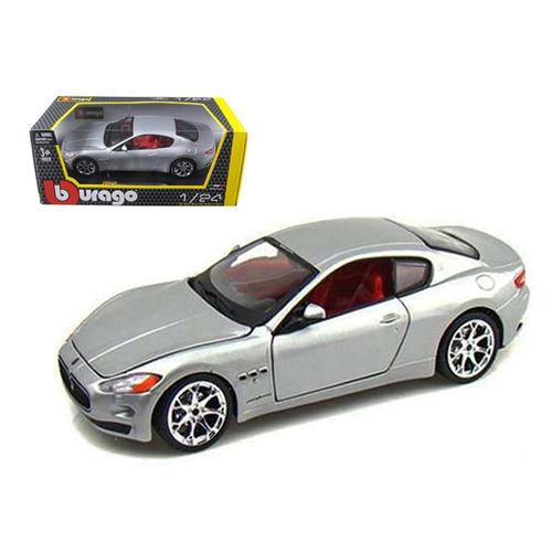2008 Maserati Gran Turismo Silver/Gray 1/24 Diecast Car Model by Bburago